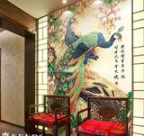 3d浮雕壁画 孔雀