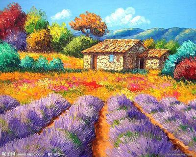 法国薰衣草装饰油画
