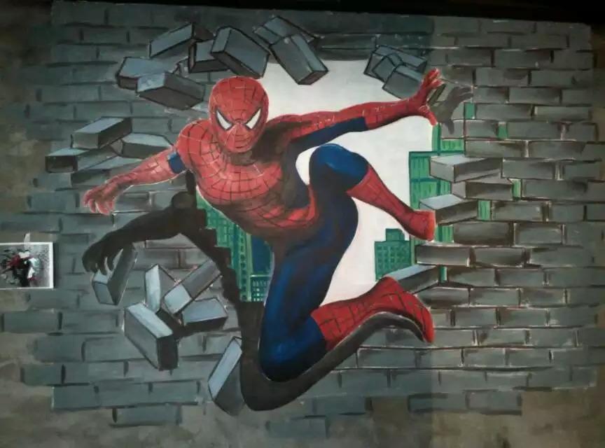 之典彩绘--惊心动魄的手绘3d立体画!