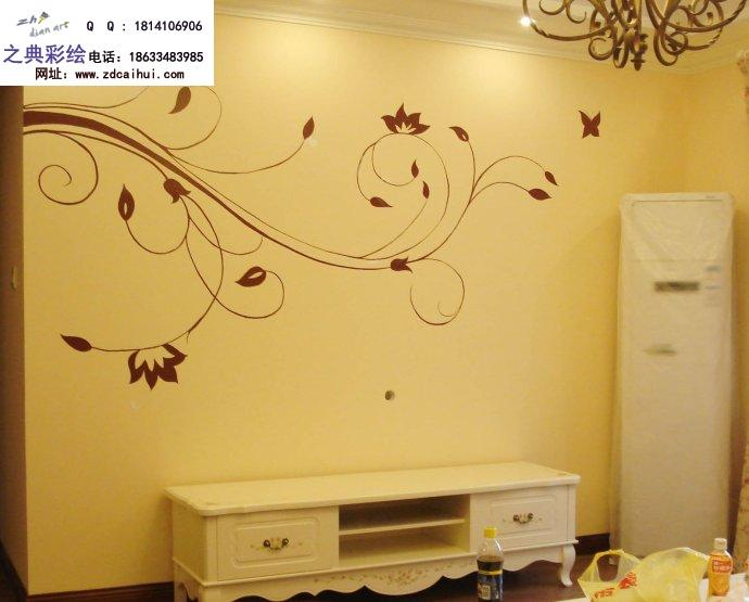 漂亮的手绘墙,石家庄墙绘,影视背景墙手绘