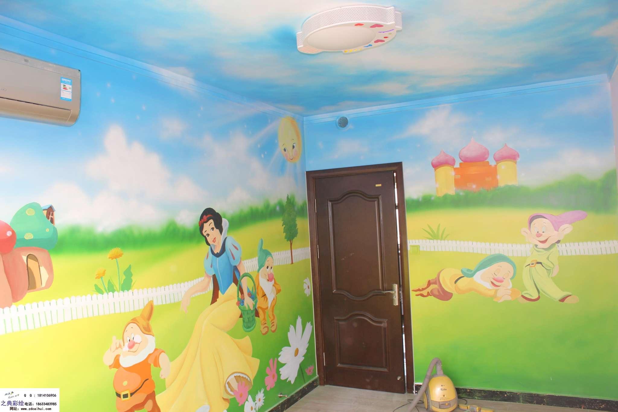 儿童房手绘墙设计 - ▊石家庄之典墙体彩绘壁画▊墙绘