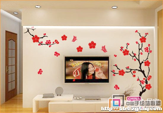 石家庄彩绘电视墙