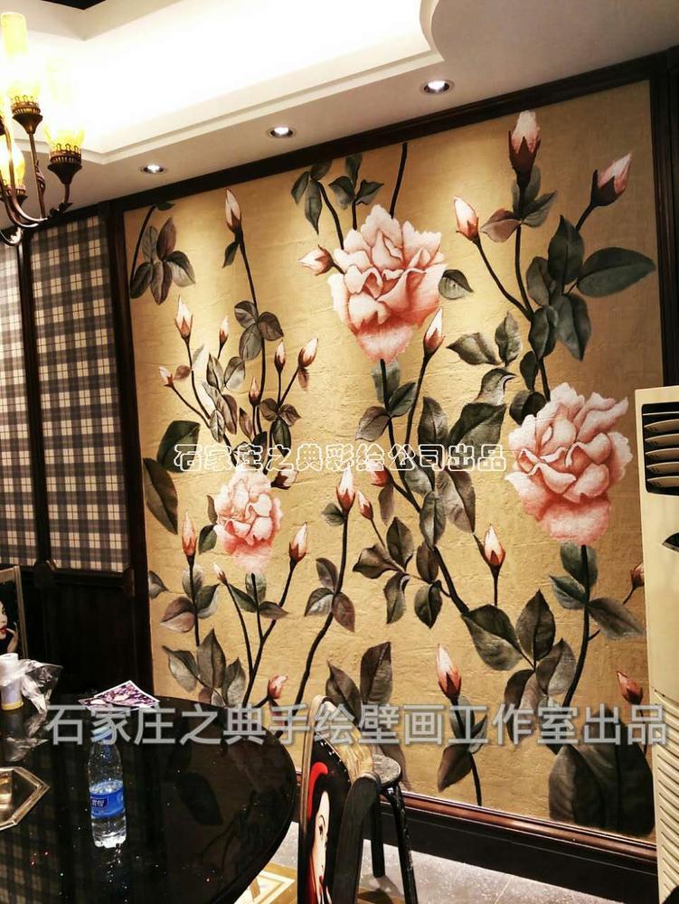 天津蓟县干锅鸭头饭店包间手绘壁画-之典彩绘 - ▊之