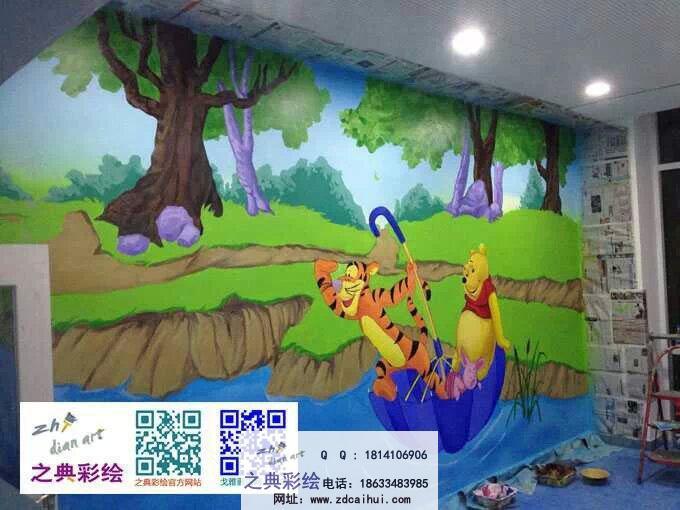 幼儿园室内墙体彩绘案例