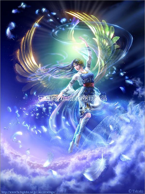 梦幻隐形壁画天使