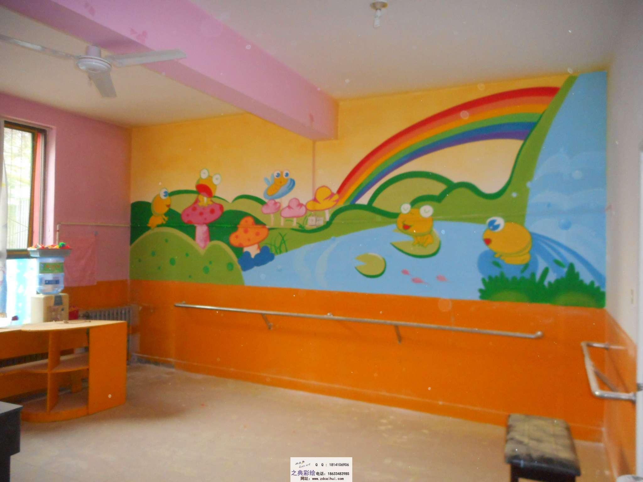 开发区花样年华幼儿园教室墙体彩绘案例 - ▊裕华区之