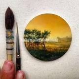 精雕细琢的油画风景画-之典油画