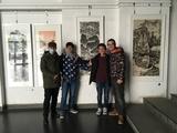 之典手绘壁画设计团队观摩画展